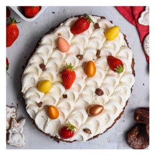 Brownie de Paques (fraise, chocolat, noisette)
