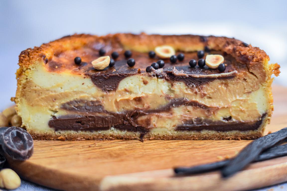 Flan pâtissier marbré (vanille, chocolat, praliné)