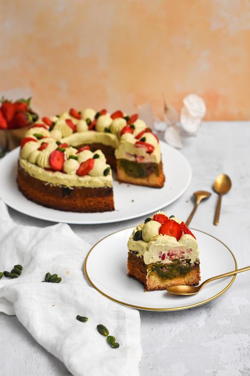 gateau pistache fraise 21