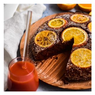 Gâteau renversé chocolat & orange