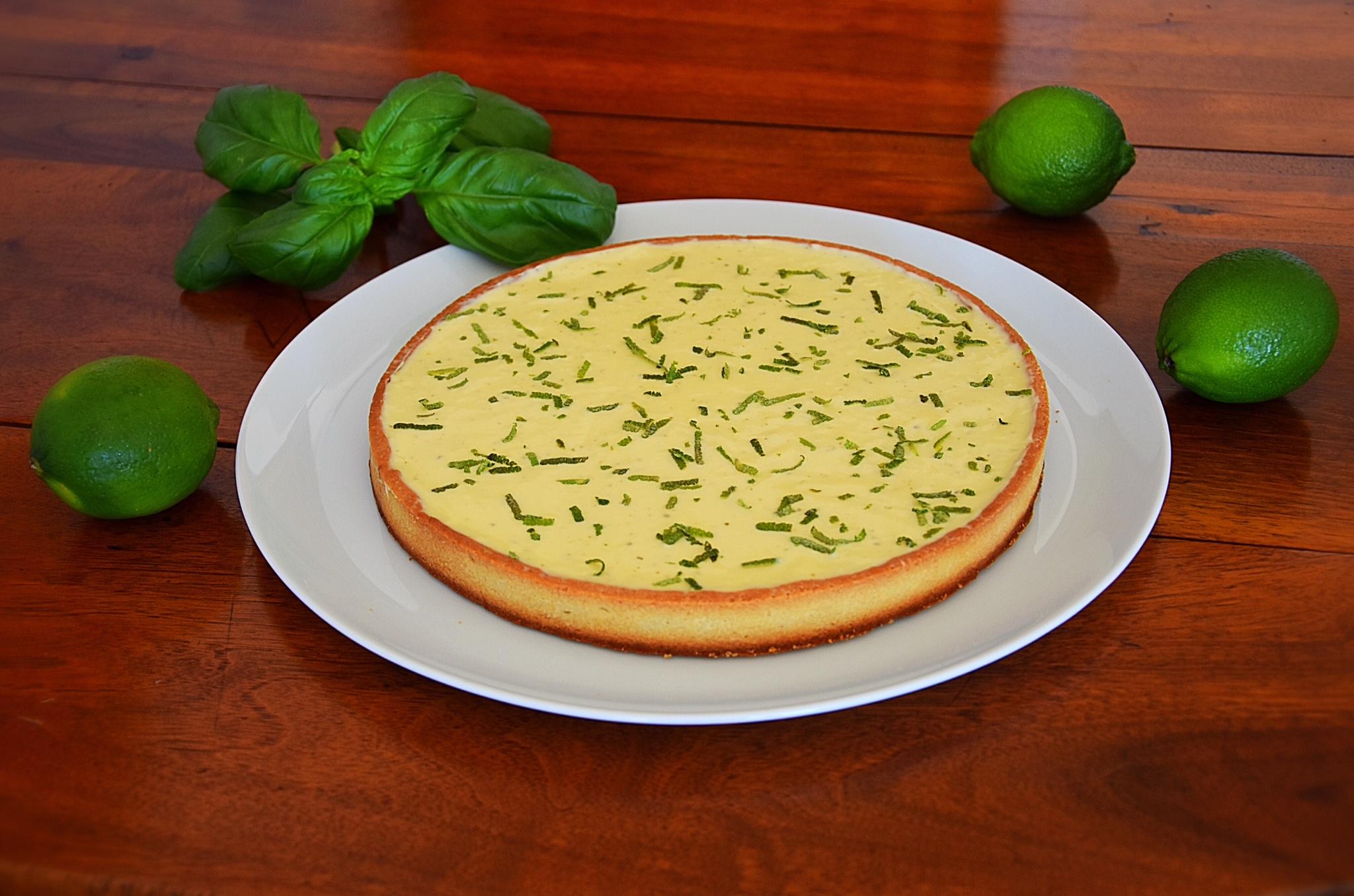 Tarte citron vert - basilic (Jacques Genin)