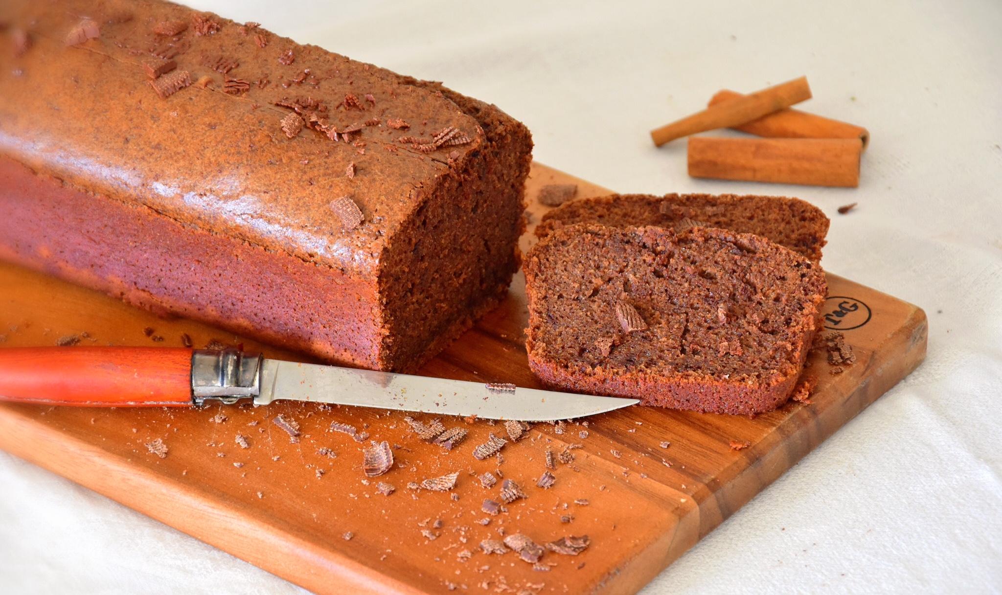 Cake vin rouge, chocolat & cannelle (Rotweinkuchen)