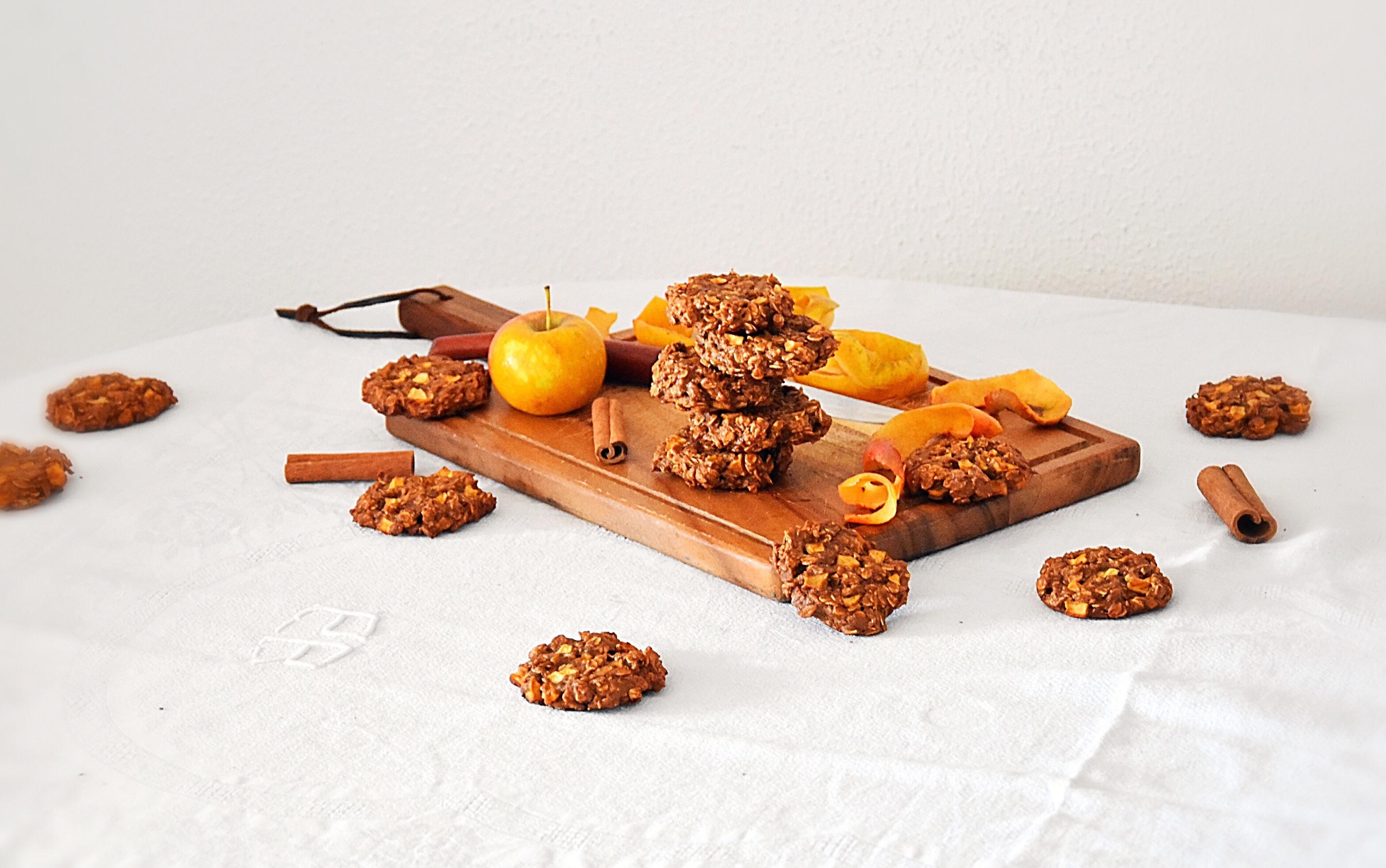 Cookies avoine, pomme & cannelle