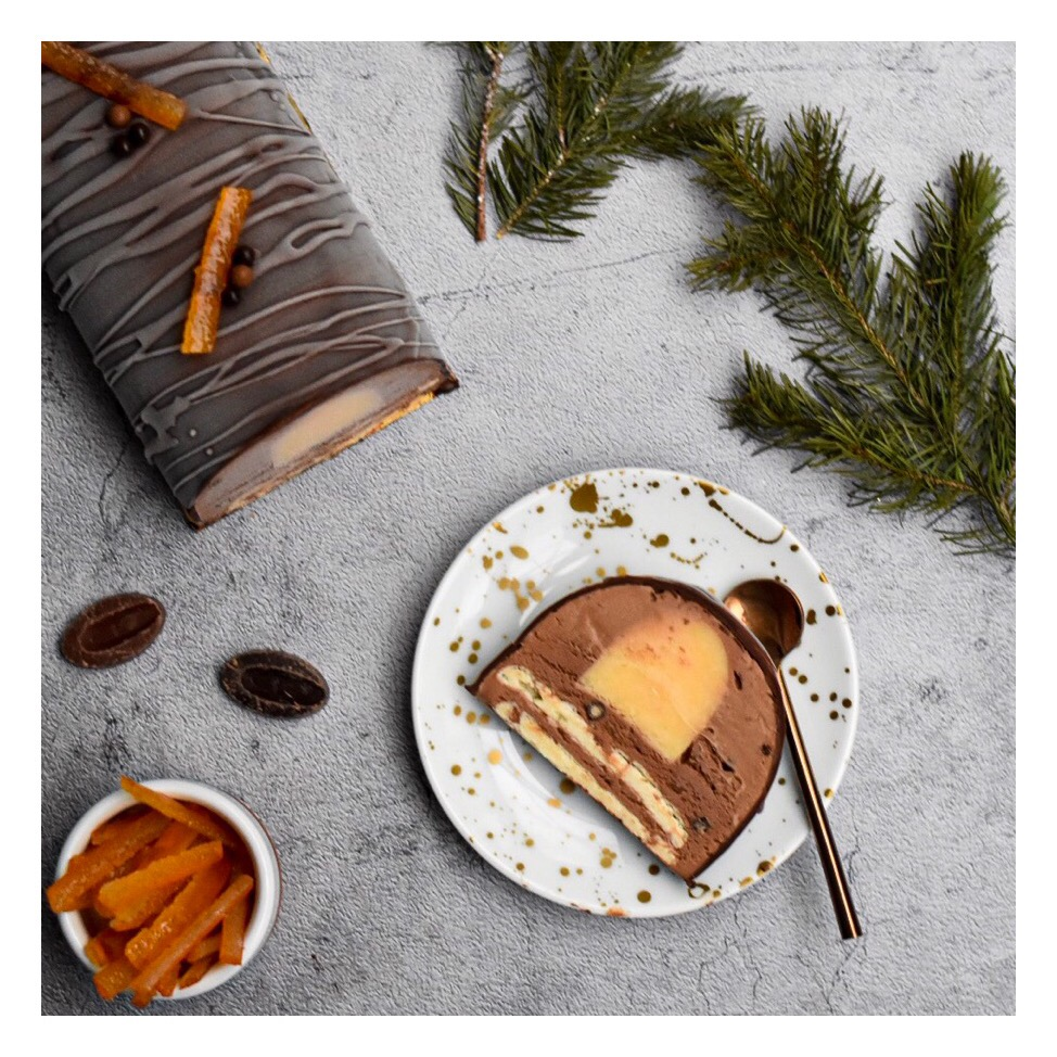 Bûche glacée chocolat & orange