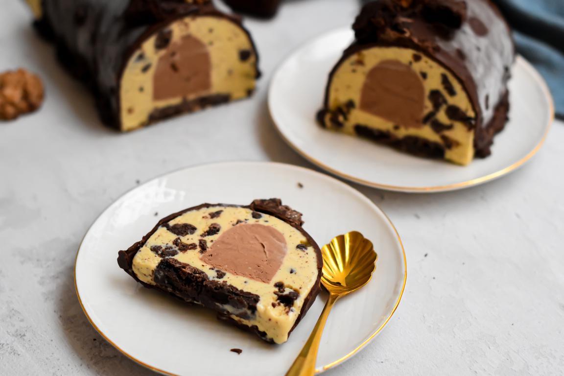 Bûche glacée cookie (Christophe Felder & Camille Lesecq)