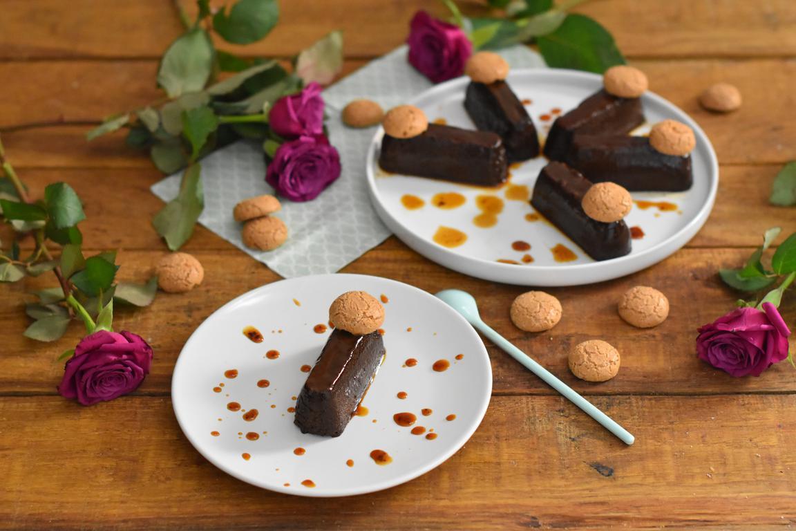 Bunet (flan piémontais au cacao & amaretti)