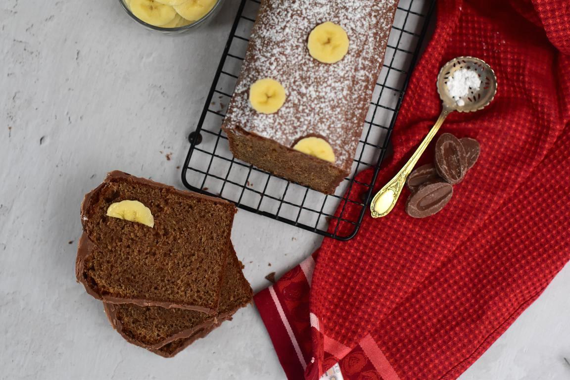 Cake banane & épices (Jérémy Del Val)
