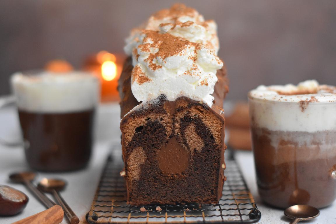 Cake marbré chocolat & cannelle