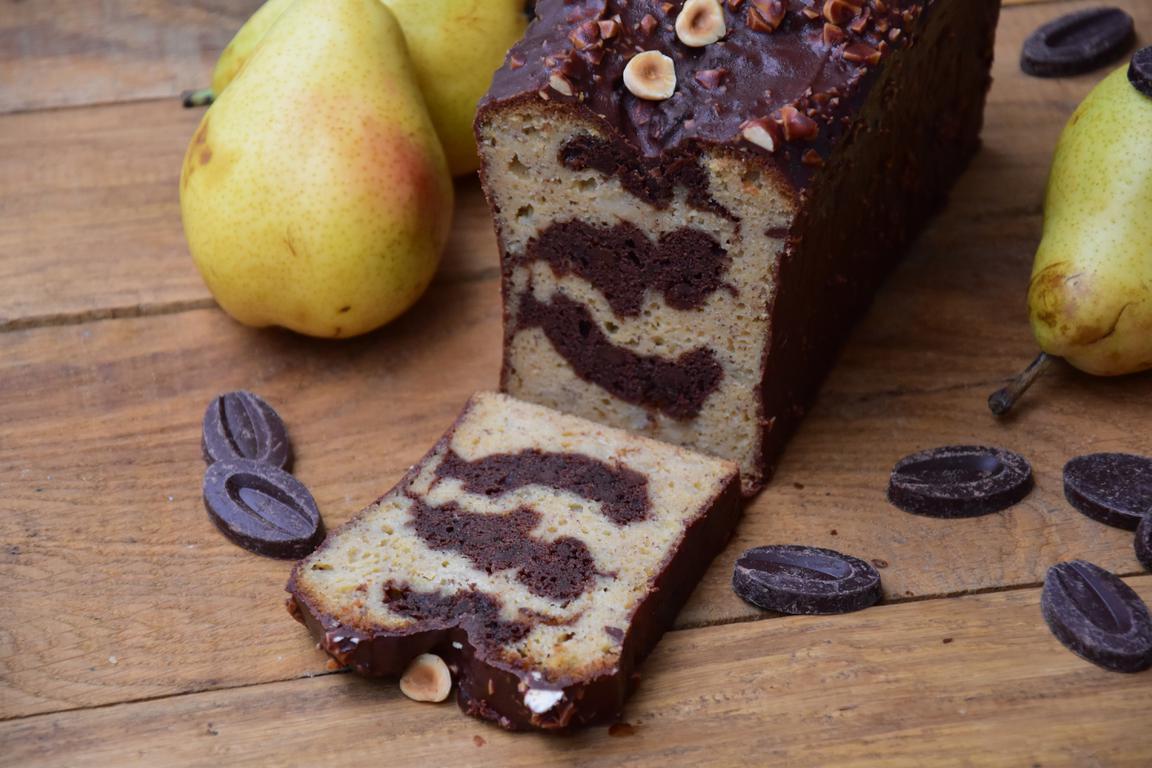 Cake chocolat et poire