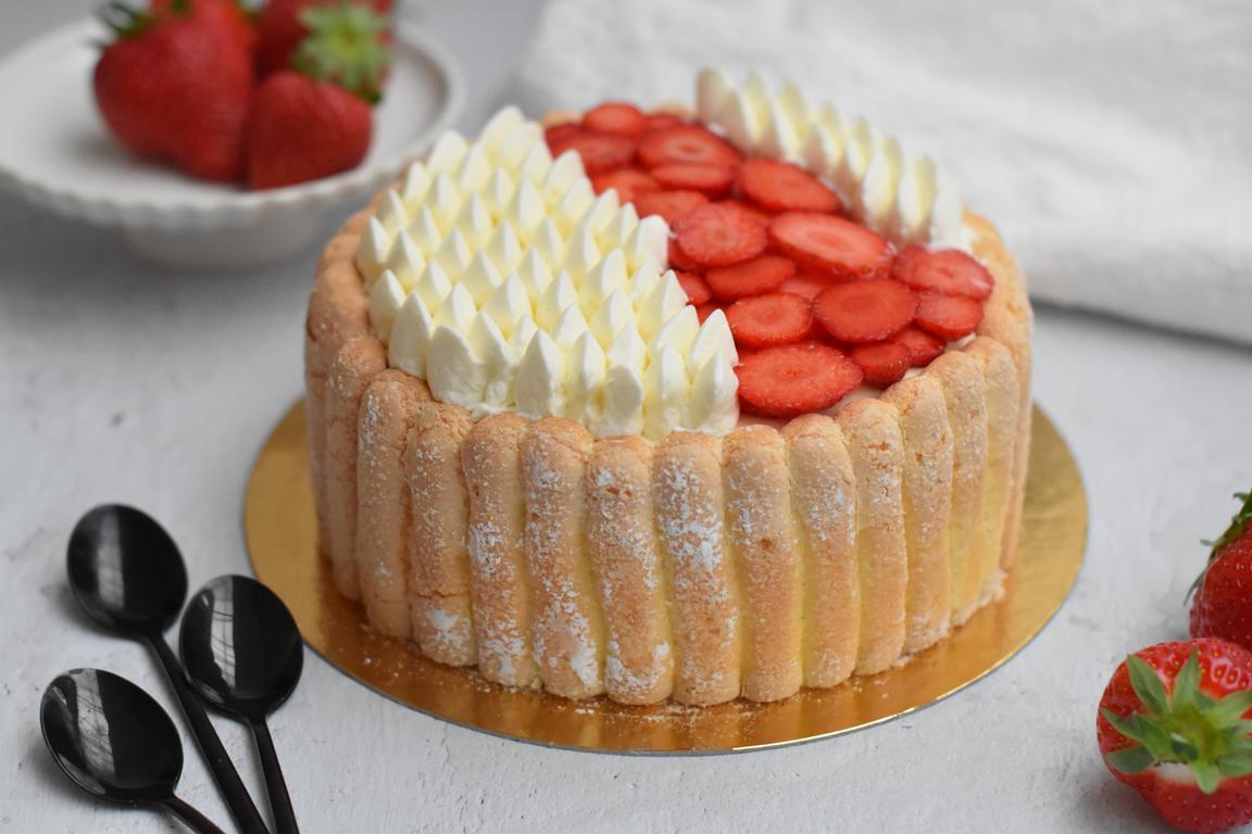 Charlotte fraises & vanille