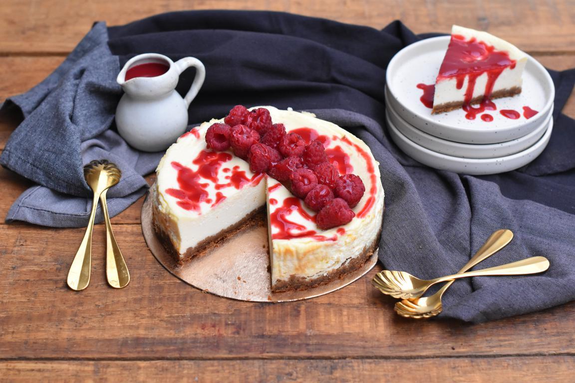 Cheesecake framboise & spéculoos