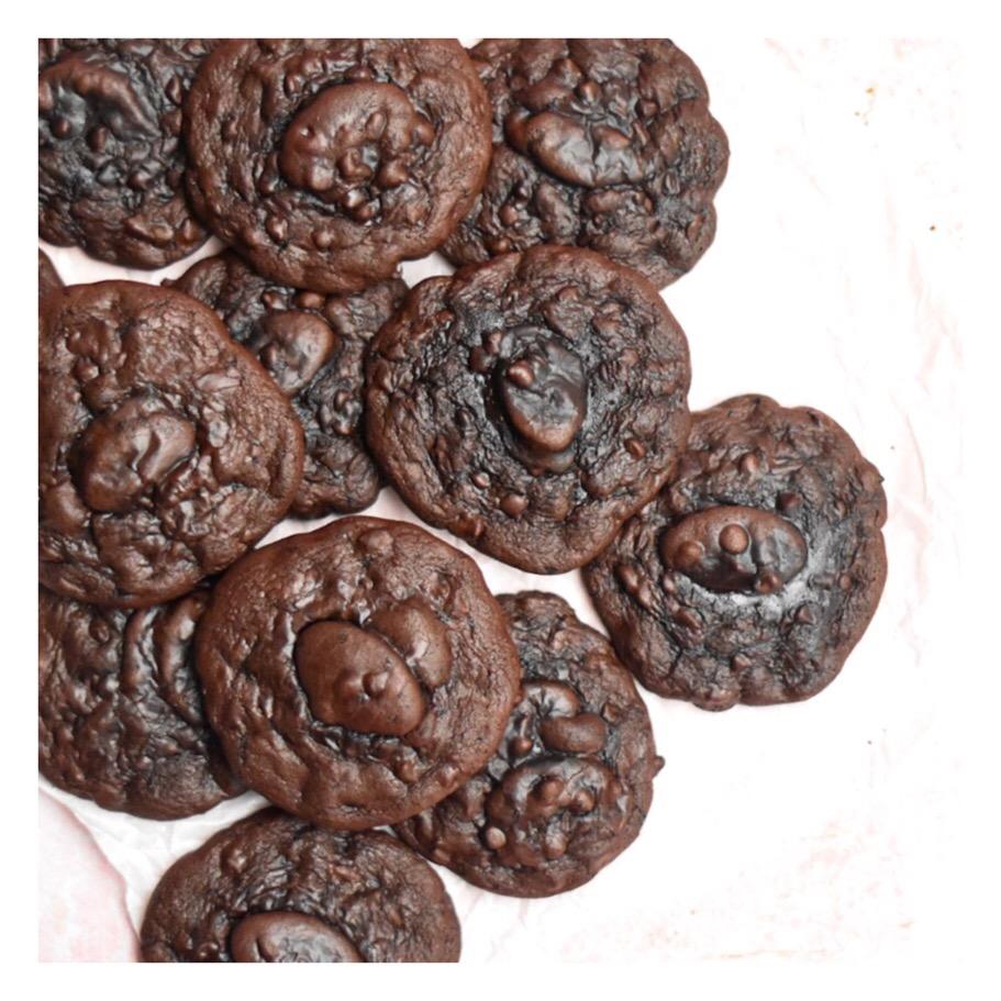 Cookies tout chocolat sans farine (Karim Bourgi)