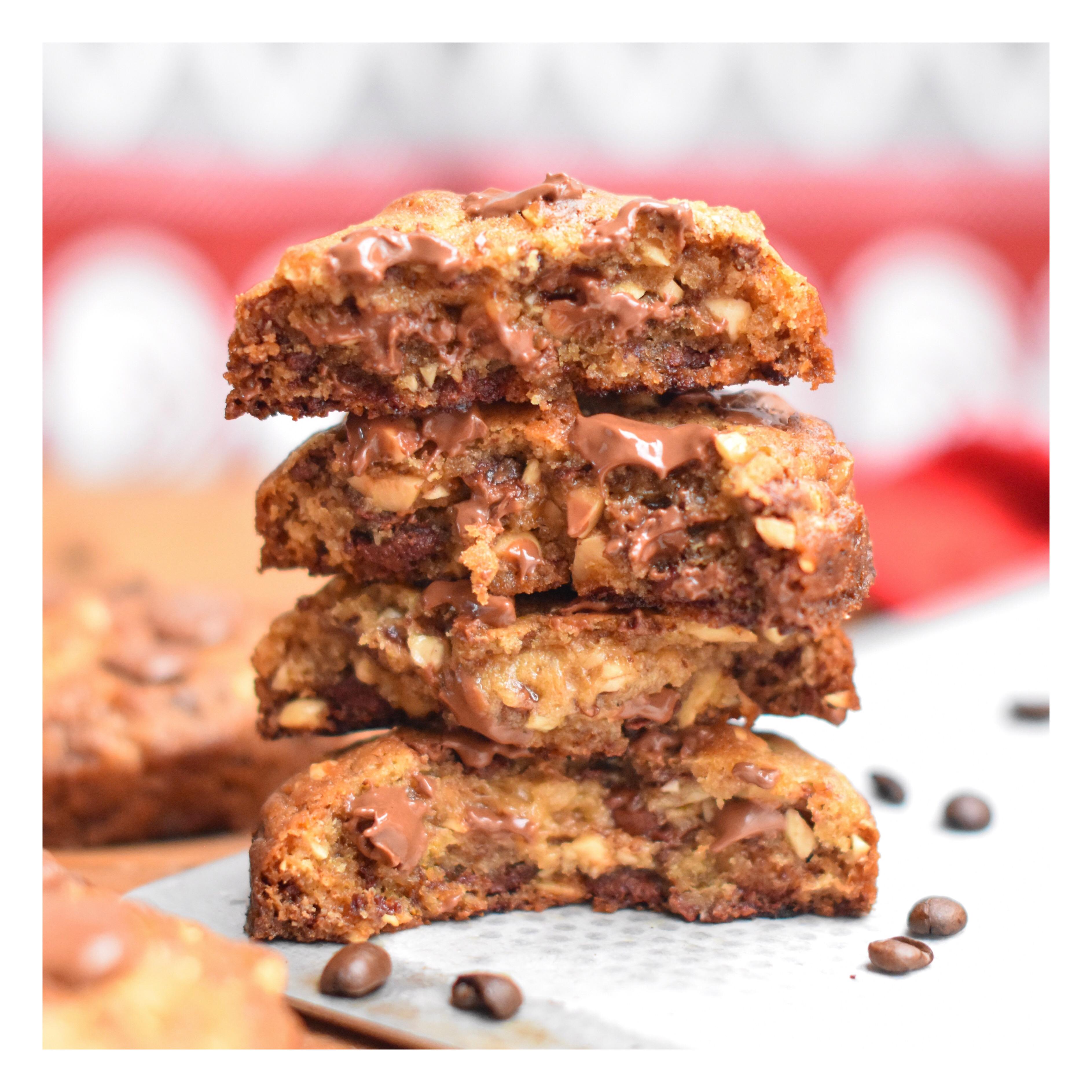 Cookies café, noisette & chocolat