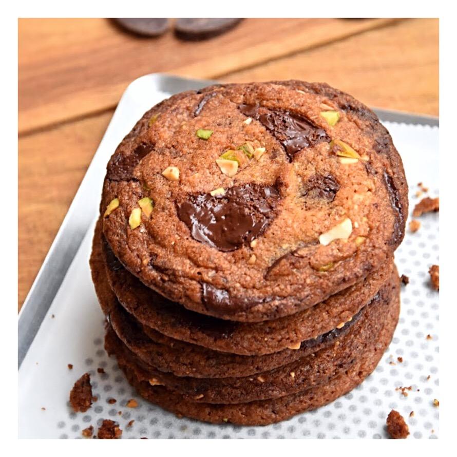 Cookies crousti moelleux chocolat, amandes & pistaches