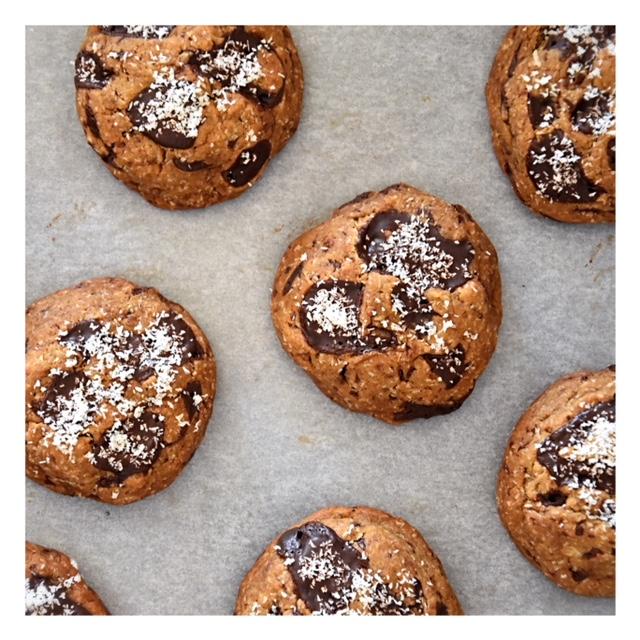 Cookies vegan chocolat & noix de coco