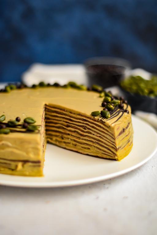 gateau crepes chocolat pistache 19