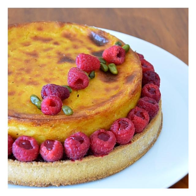 Flan pâtissier revisité pistache & framboise (2ème du concours Fou de Pâtisserie)