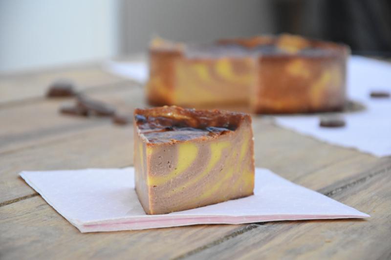 Flan pâtissier Mogador (chocolat au lait & fruit de la passion)