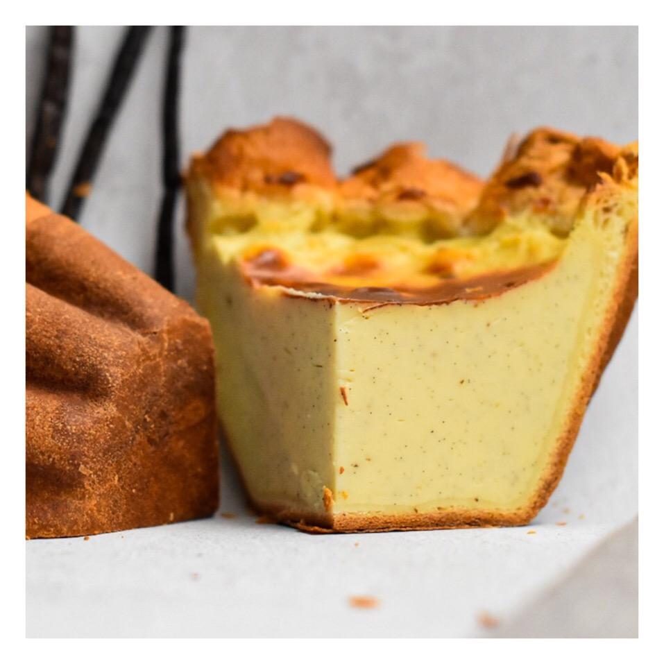 Flan pâtissier à la vanille et brioche feuilletée (Cédric Grolet)