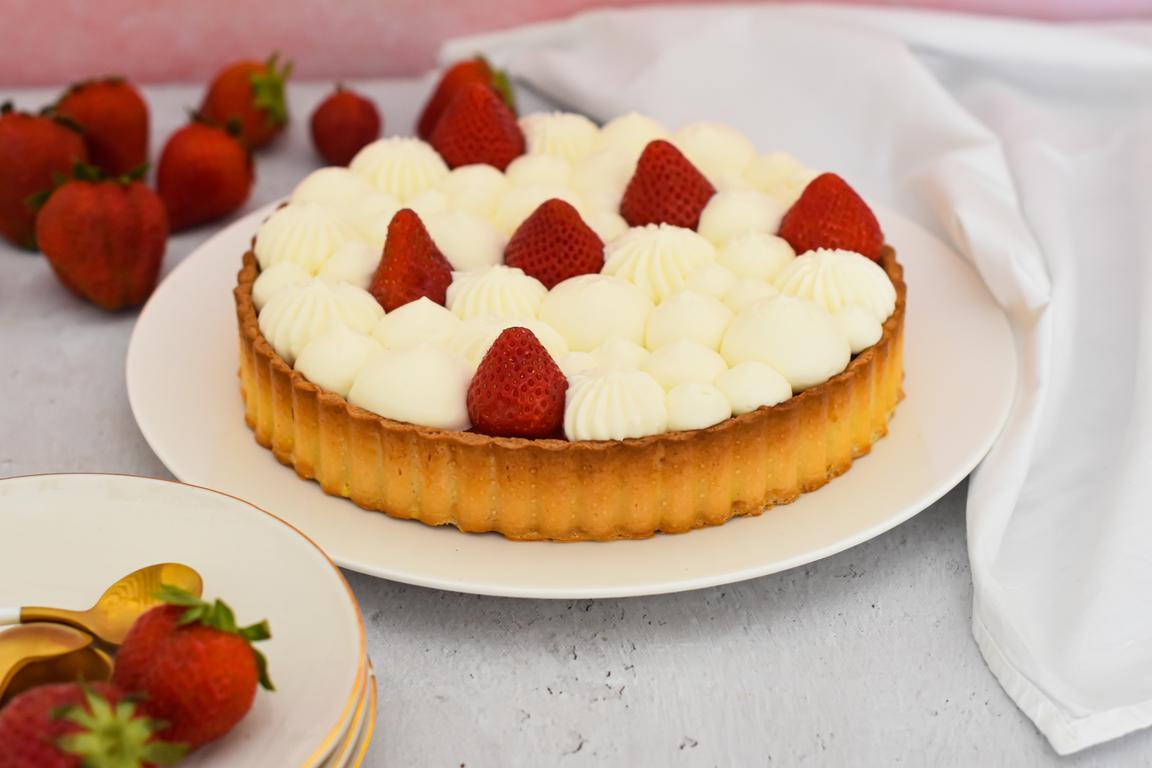Tarte fraise & yaourt