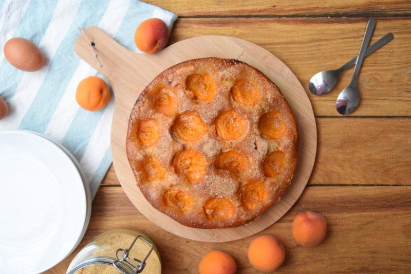 Gâteau moelleux à l'abricot