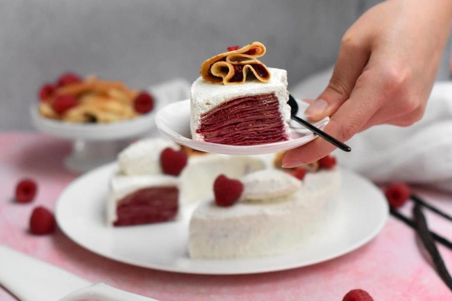 gateau crepes confit framboise vanille23