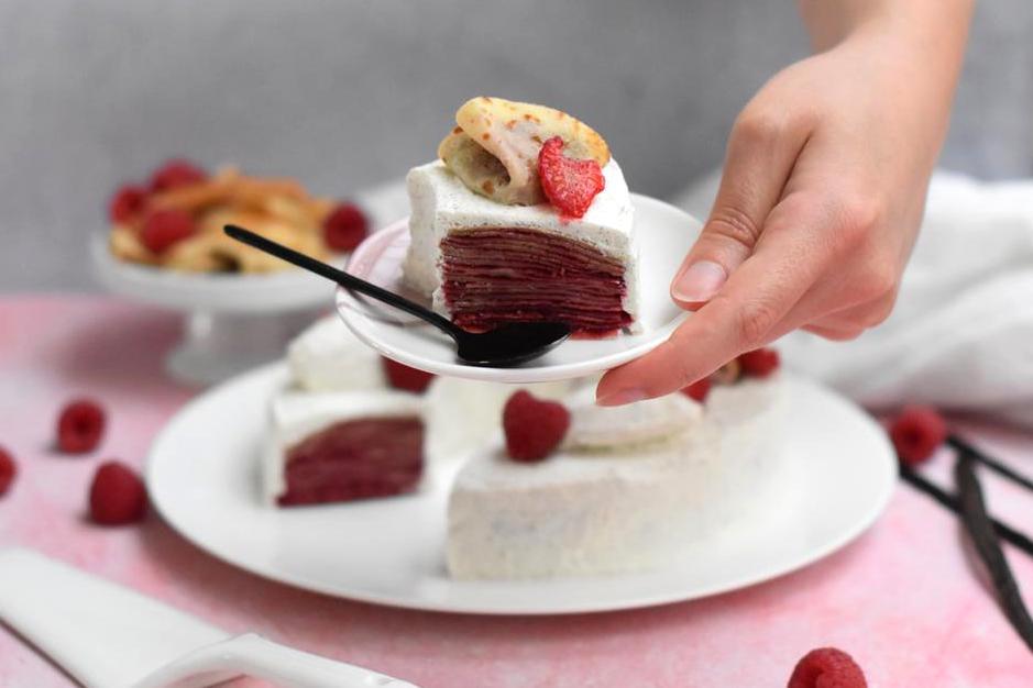gateau crepes confit framboise vanille24