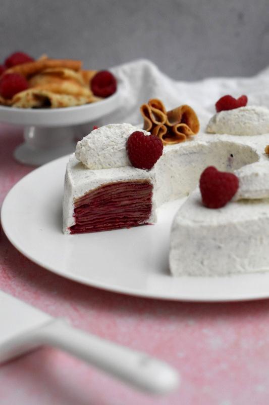 gateau crepes confit framboise vanille27