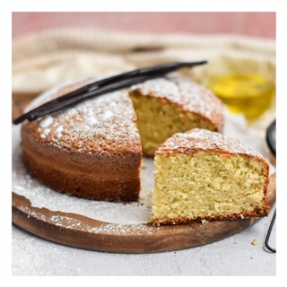 Gateau au yaourt, vanille & huile d'olive