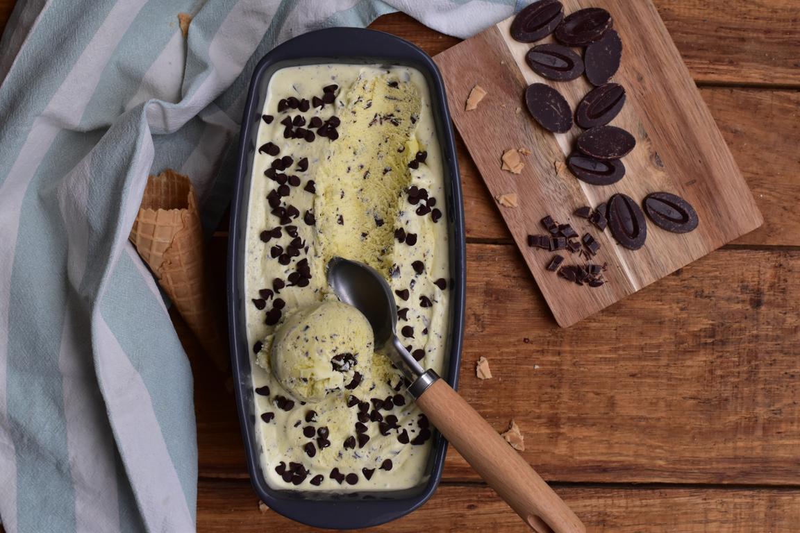 Glace menthe & chocolat