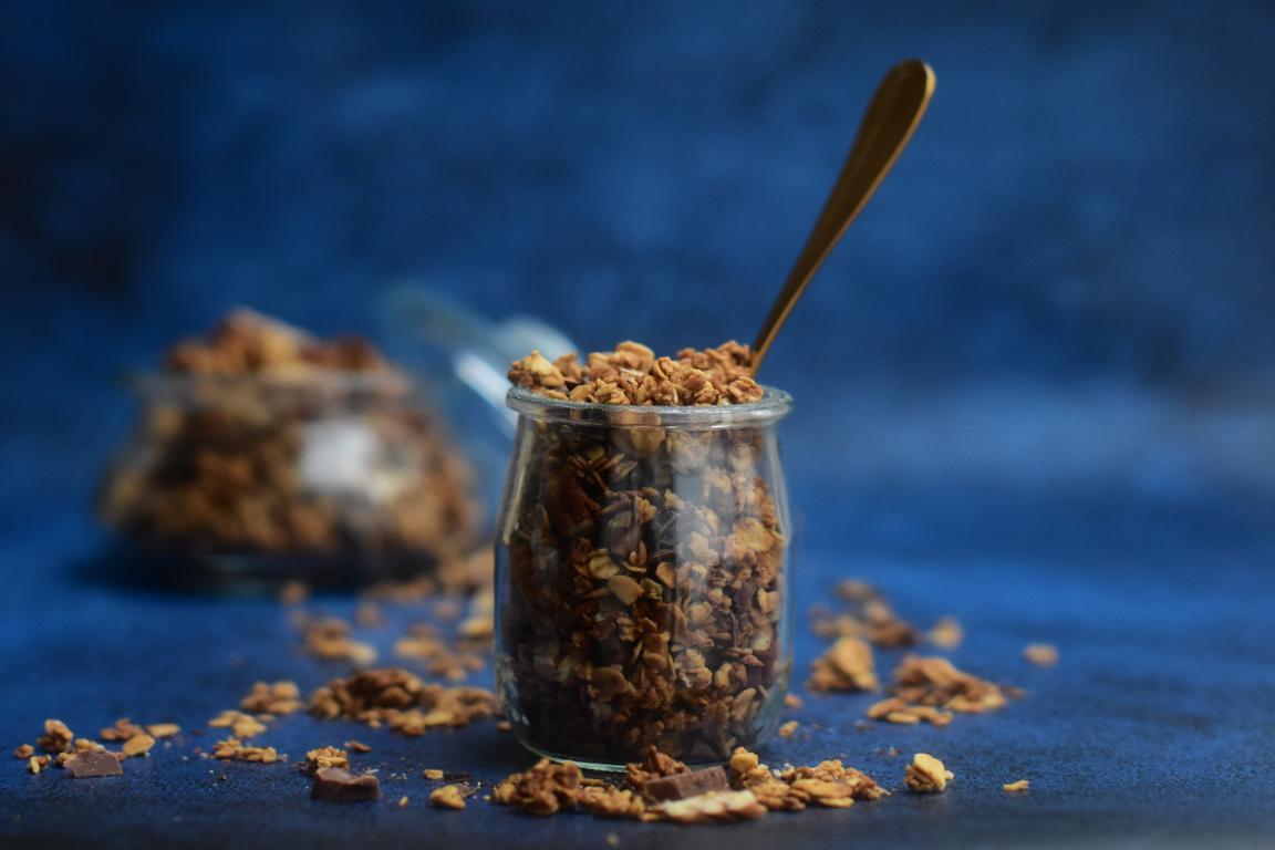 Granola sirop d'érable, noix de pécan & chocolat