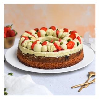 Gâteau pistache & fraise