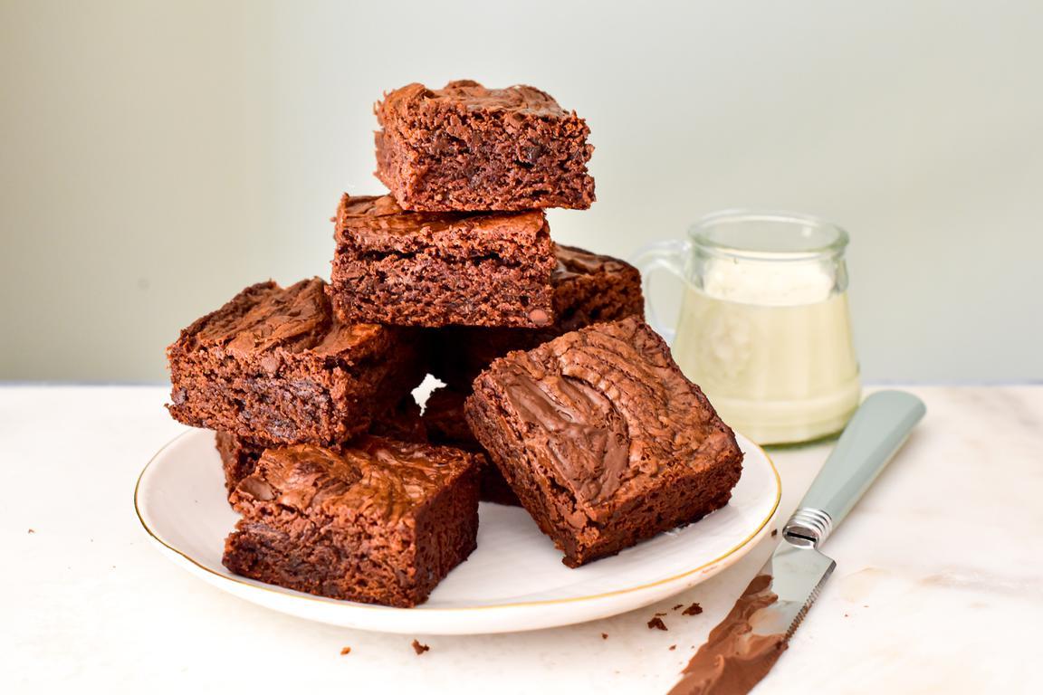 Brownie à la pâte à tartiner