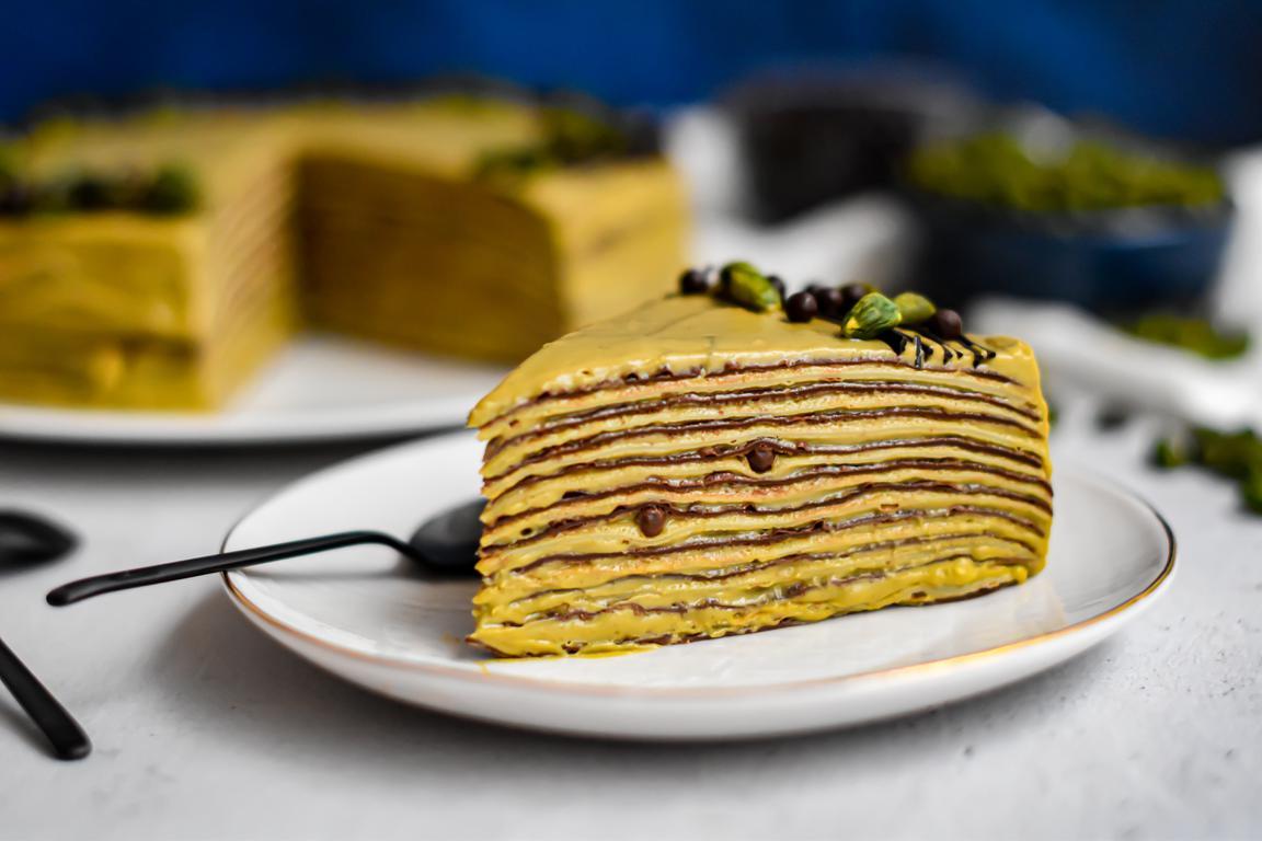 gateau crepes chocolat pistache 17