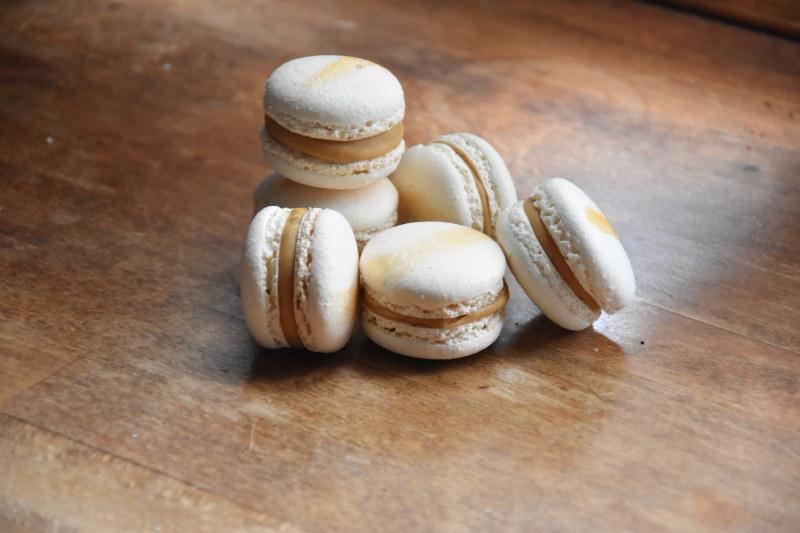 Macarons au chocolat Dulcey