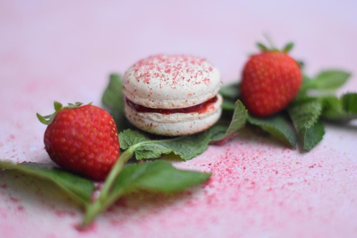 Macarons fraise & menthe