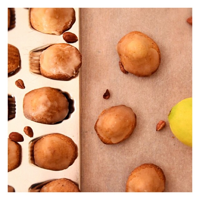 Madeleines noisette & citron