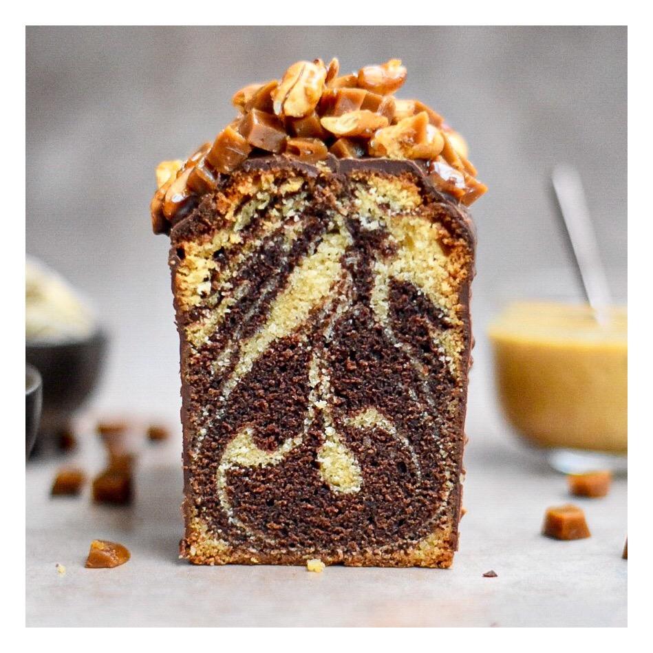 Cake marbré cacahuète & chocolat (Pascal Hainigue)