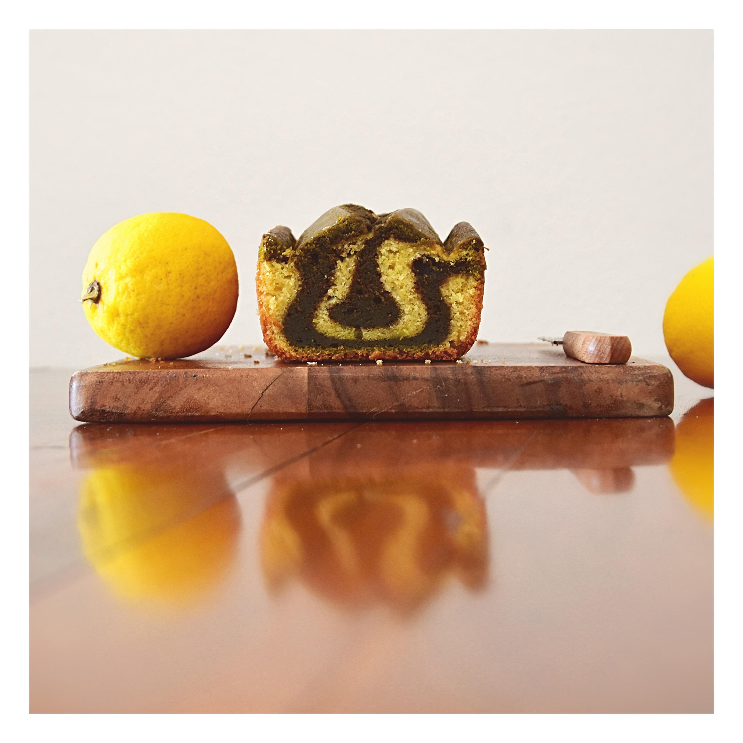 Marbré lemon curd - thé matcha