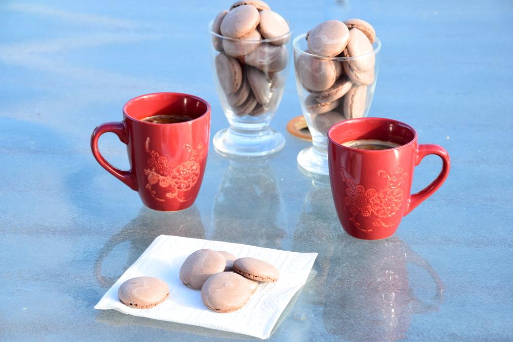 Mini meringues au chocolat