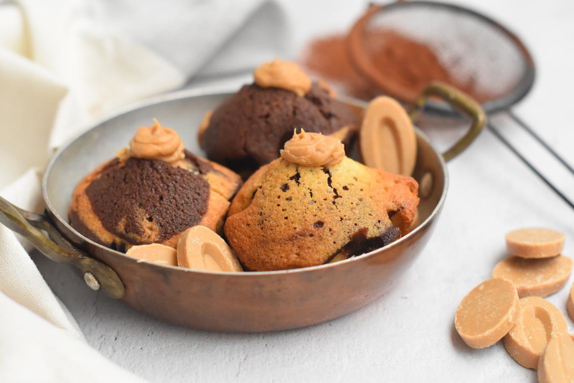 Muffins marbré coeur Dulcey