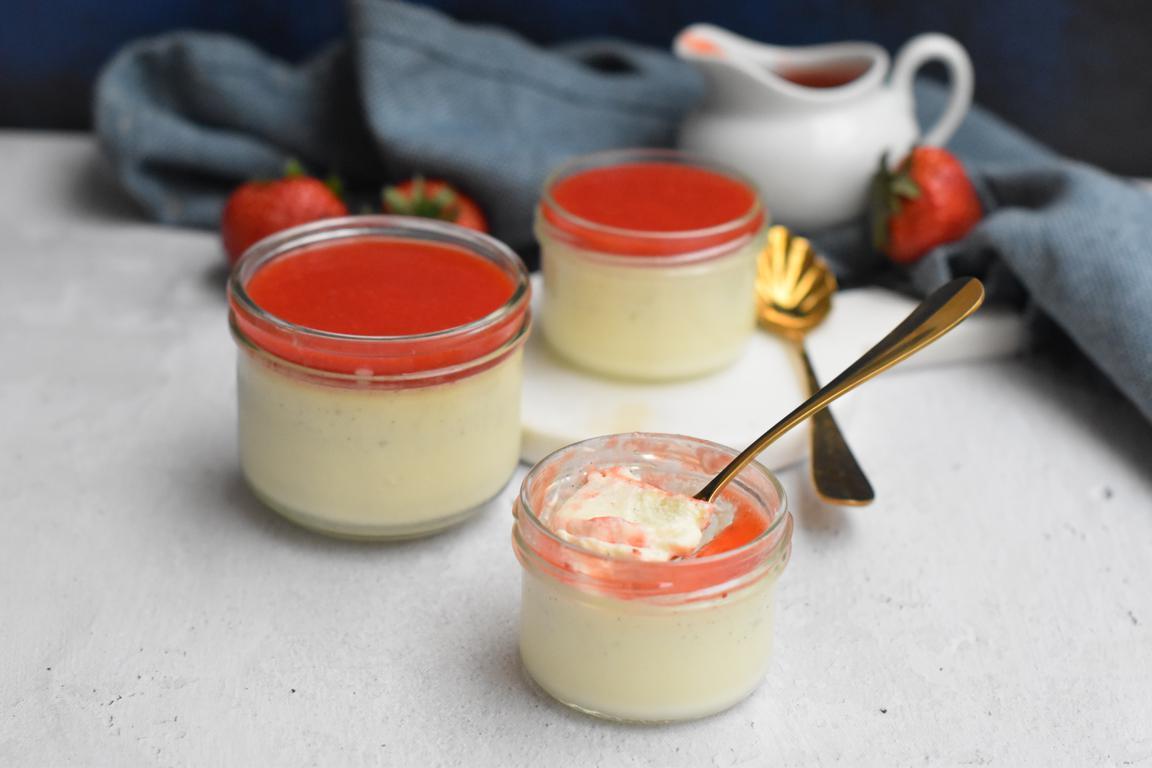 panna cotta vanille fraise 11