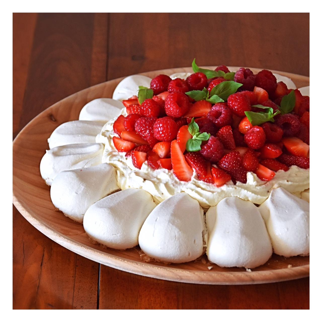 Pavlova fraise&framboise