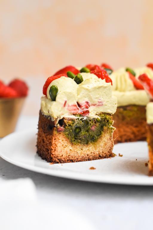 gateau pistache fraise 25