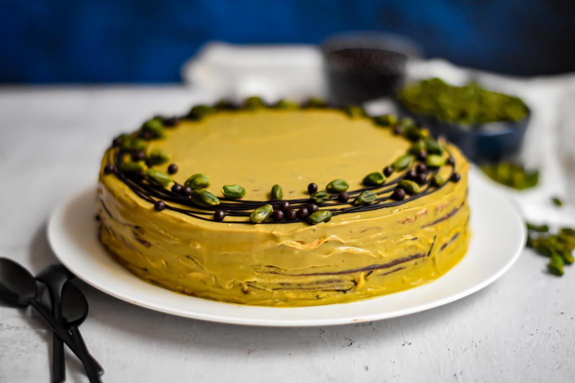 gateau crepes chocolat pistache 15