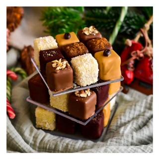 Rubik's cake tout chocolat (inspiration Cédric Grolet)