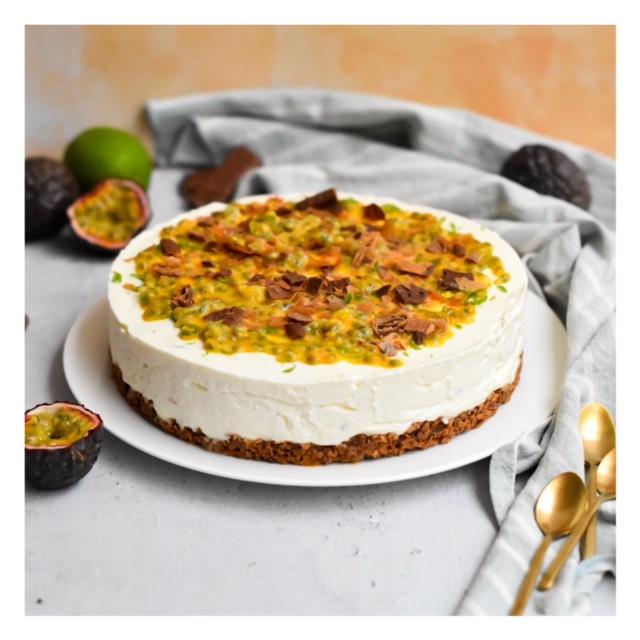 Cheesecake citron vert & passion, sans cuisson