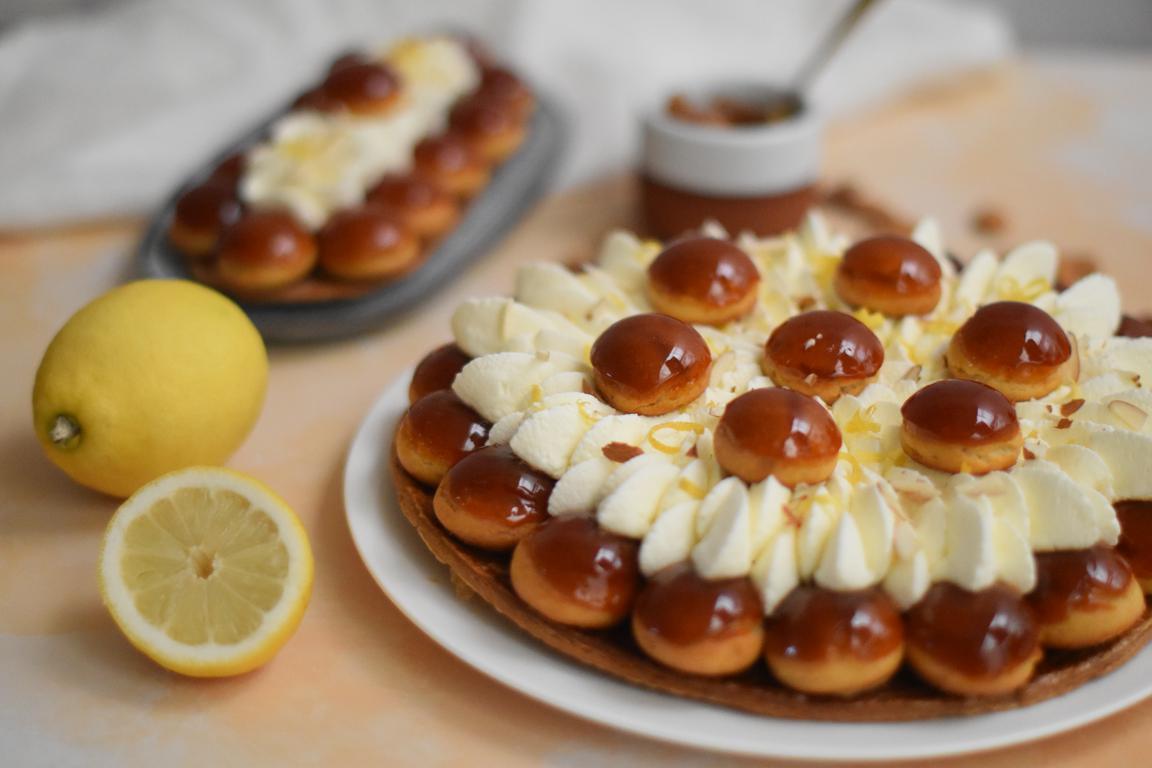 Saint-honoré praliné amande & citron