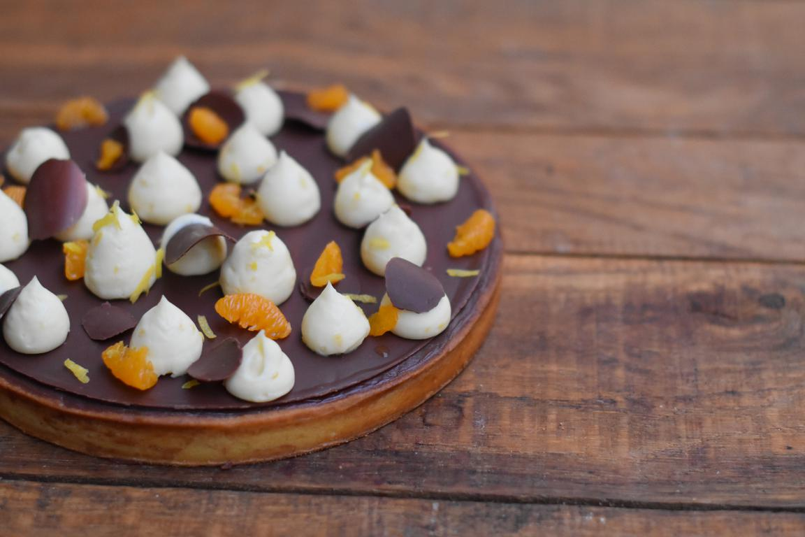 Tarte chocolat, mandarine & citron