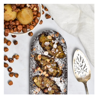 Tarte bourdaloue chocolat & noisette